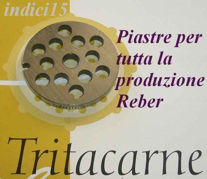 Piastra Piastre Acciaio fori a losanga Cotiche Cotenne Tritacarne n°22 Reber